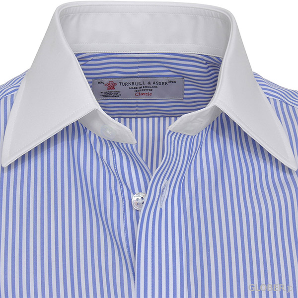 Turnbull&Asserドレスシャツ/ブルーストライプ